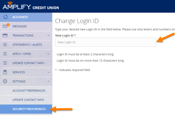 Online and Mobile Banking Tips - Change Login ID