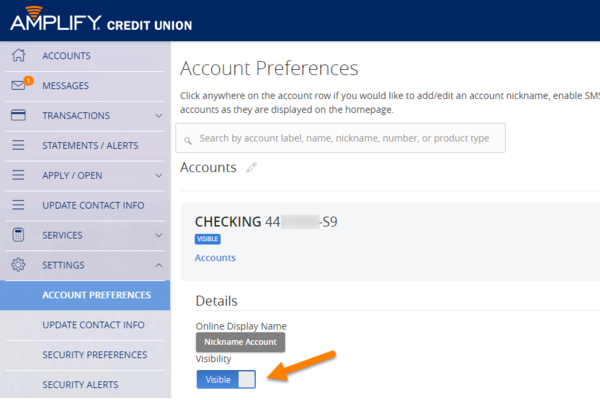 Online and Mobile Banking Tips - Hide Account from Overview