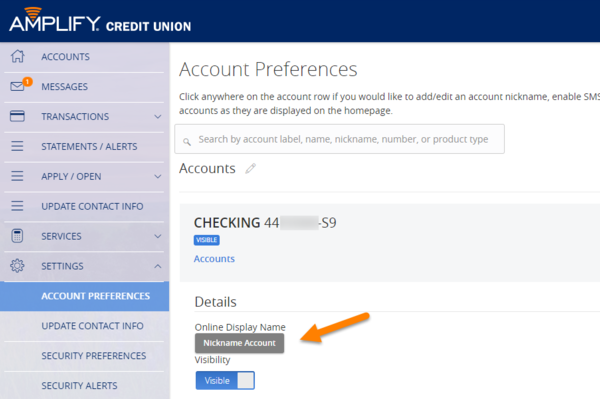 Online and Mobile Banking Tips - Nickname an Account